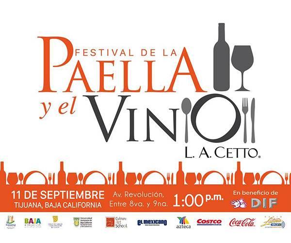 Resultado de imagen para festival paella y vino tijuana 2016